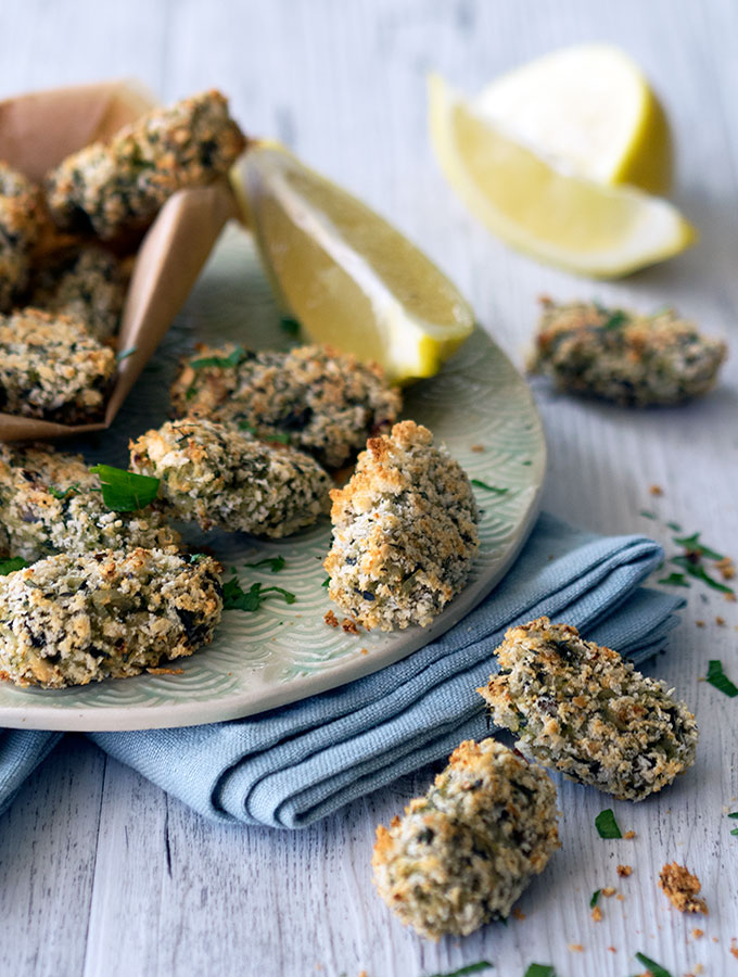 Healthy Oven Baked Zucchini Mushroom Croquettes