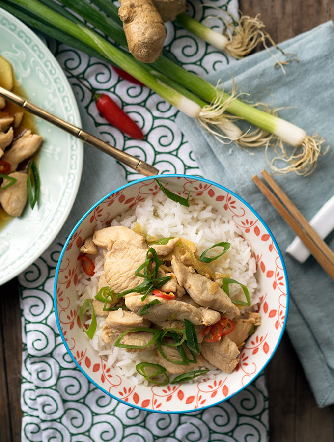 Drunken Chicken ~ An easy to prepare and quick to cook comforting Chinese dish