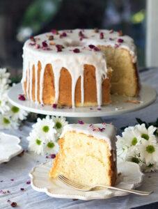 Vanilla Rose Chiffon Cake Recipe