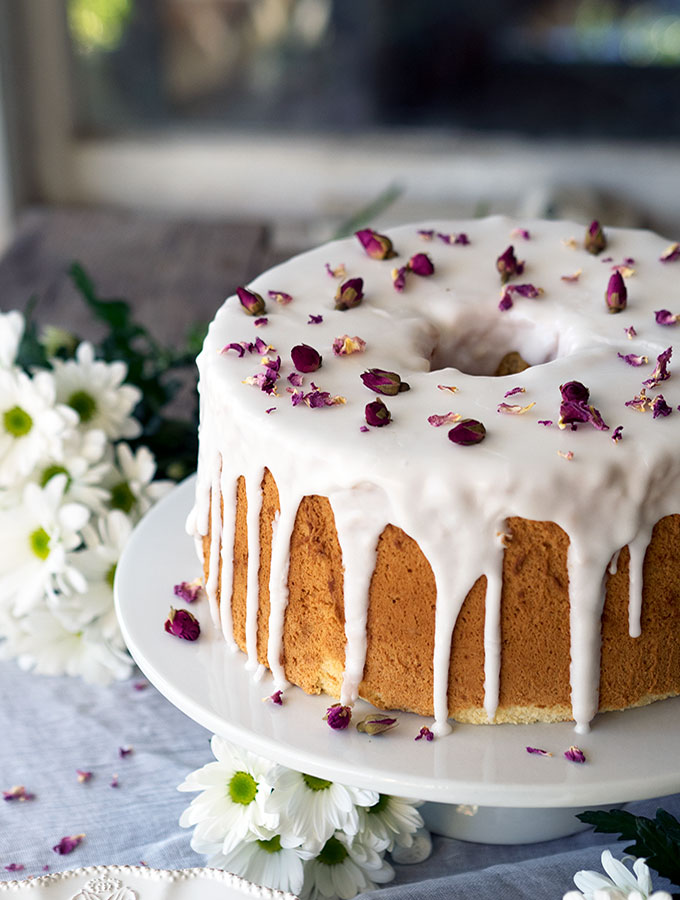 Vanilla Rose Chiffon Cake Recipe