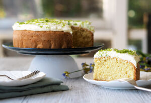 Tangy Lime Coconut Cake with lip smacking Lime Buttercream Frosting