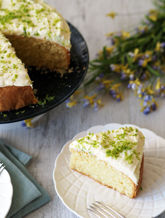 Tangy Lime Coconut Cake With Lime Frosting Belly Rumbles