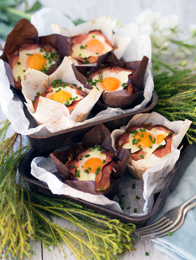 Potato and Ham Hash Brown Nests. Plus I show you the trick to easily removing liquid from grated potato