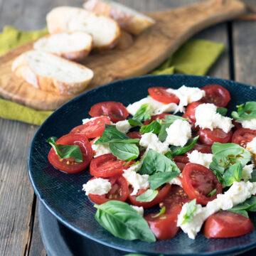 Tomato, Mozzarella, Basil Salad Recipe and a look at the Australian Grand Dairy Awards Winners