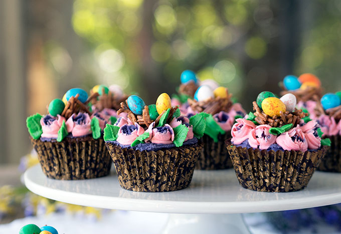 Easter Chocolate Mud Cupcakes