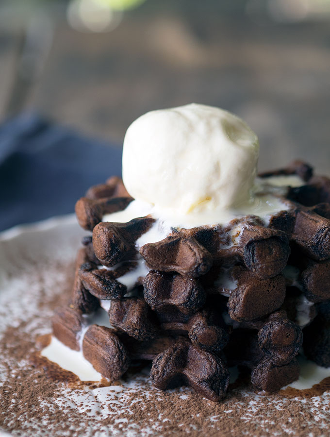 The Best Triple Chocolate Waffles Recipe