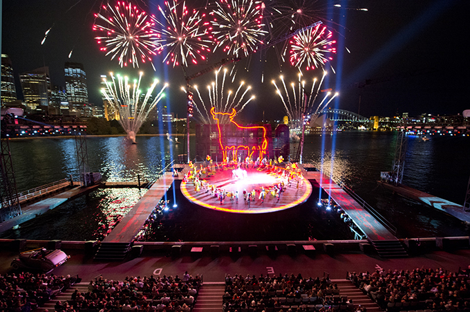 Fireworks Handa Opera on Sydney Harbour — Carmen 2013 Photo credit James Morgan