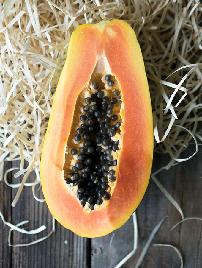 Australian Red Papaya & Papaya Pecan Streusel Cake Recipe
