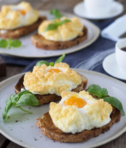 Cloud Eggs, the light and fluffy baked breakfast eggs.