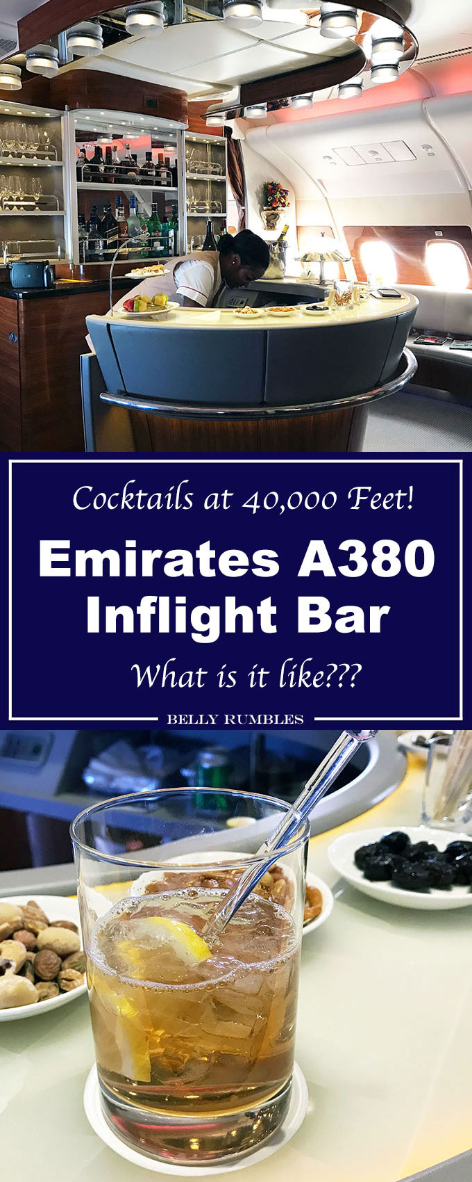 Ever wondered what the Emirates A380 inflight bar was like? Come fly with me and find out how the other half of the plane live.