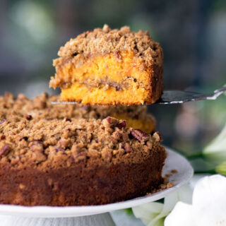 When the Tropics meet Autumn, Papaya Pecan Streusel Cake