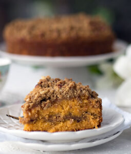 Papaya Pecan Streusel Cake Recipe – A delicious alternative flavour to your normal run of the mill streusel cake. Rich and moist, with a crunchy topping. Plus a gorgeous orange hue from Australian red papayas. You can use pawpaw if you have those on hand as well.