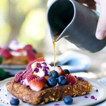 The ultimate French Toast Recipe using crunchy cornflakes from The Three Williams in Sydney