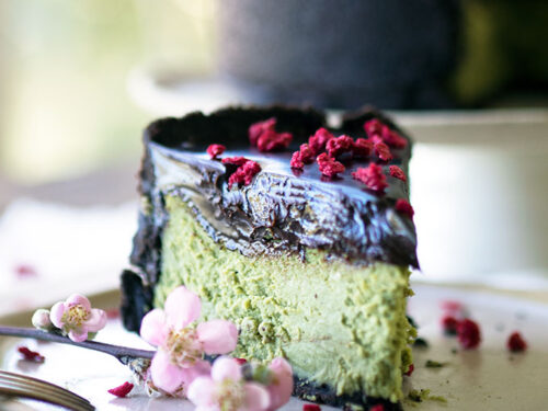 Baked Matcha White Chocolate Cheesecake Belly Rumbles