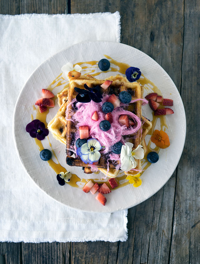 The Perfect Blueberry White Chocolate Waffles Recipe | Belly