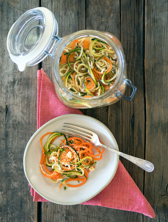 Quick Carrot and Zucchini Pickles are fantastic on burgers, sandwiches, and wraps. They are also brilliant in salads and they are quick and easy to make.