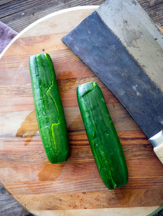 Chilled Chinese Garlic Soy Sauce Cucumbers are packed with flavour, moreishly delicious, refreshing and low in calories.