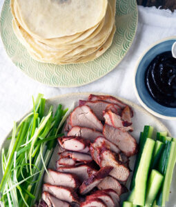 Authentic Mandarin Pancakes that are easy to make at home. Perfect to wrap up slices of Peking duck or BBQ Pork with green onions, cucumber and hoisin sauce.