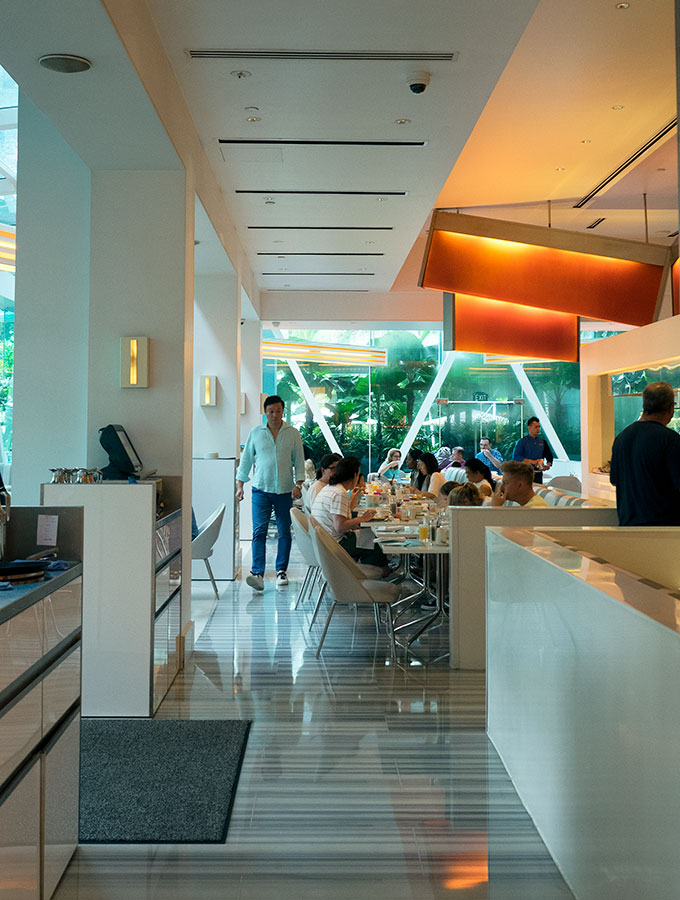 The Line at Shangri-La Hotel in Singapore offers an extensive breakfast buffet.  Do they do the best buffet breakfast in Singapore?