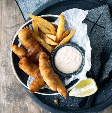 Ginger Beer Battered Fish and Chips