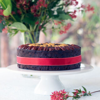 Port and Chocolate Christmas Cake, a decadent rich Christmas Cake the whole family will love.