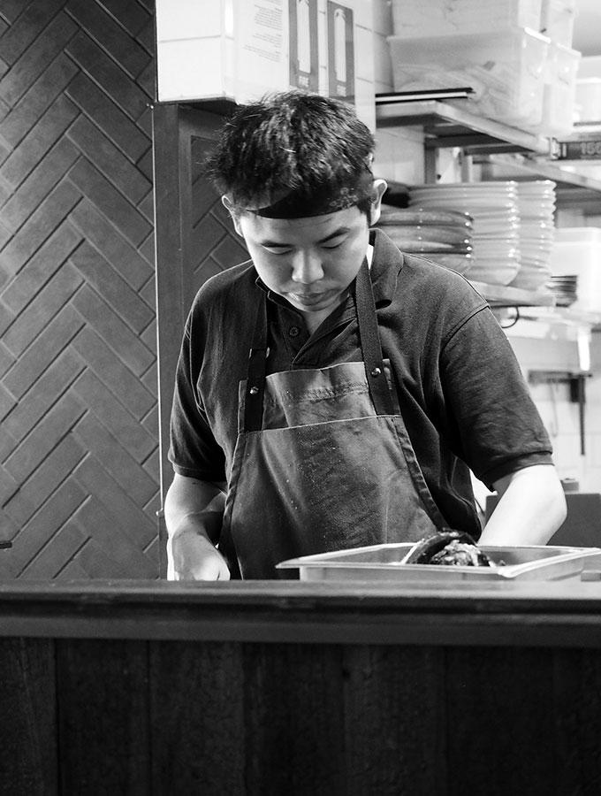 Chefs working hard at Kid Kyoto Sydney