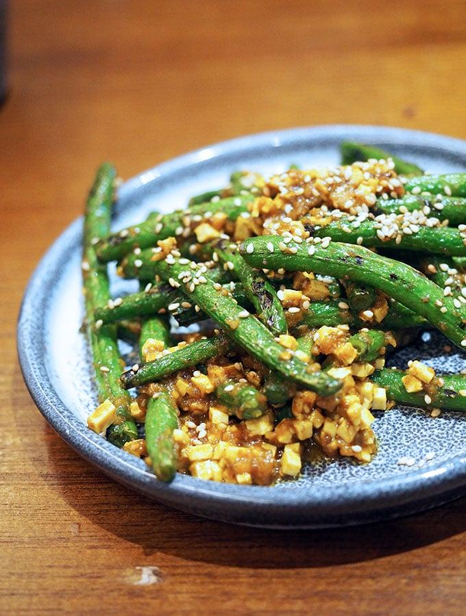 Kid Kyoto Omakase: Hot green bean 'shira-ae' Japanese curry, sesame & tofu crumb