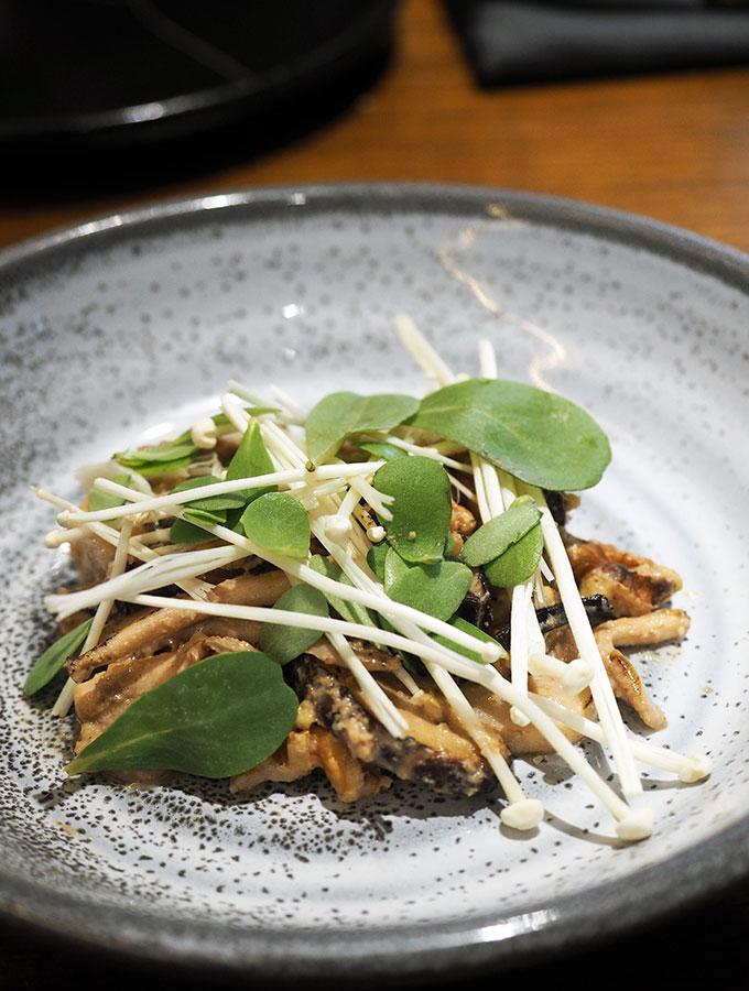 Kid Kyoto Omakase: Wok smoked mushrooms, walnut miso & barilla