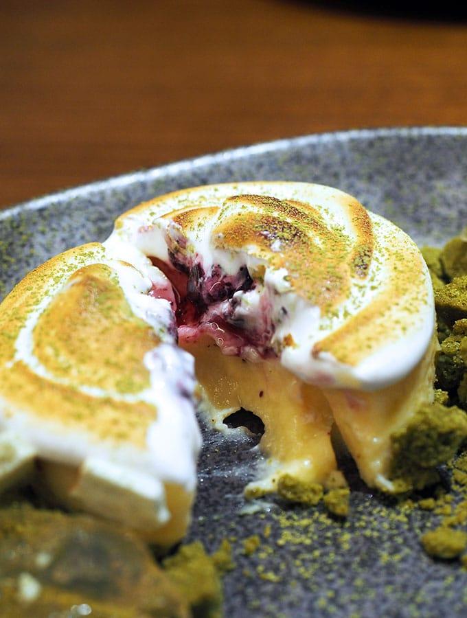 Kid Kyoto dessert, yuzu tart