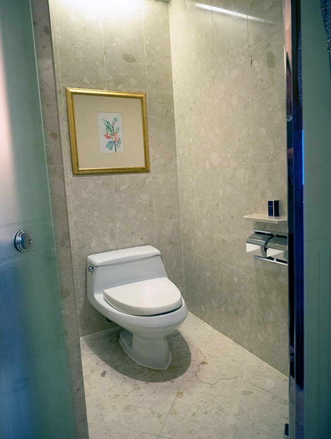 Deluxe Suite Toilet at the Peninsula Hotel Bangkok