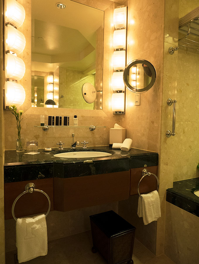 His and Her's vanities in the Deluxe Suite Bathroom of the Peninsula Hotel Bangkok