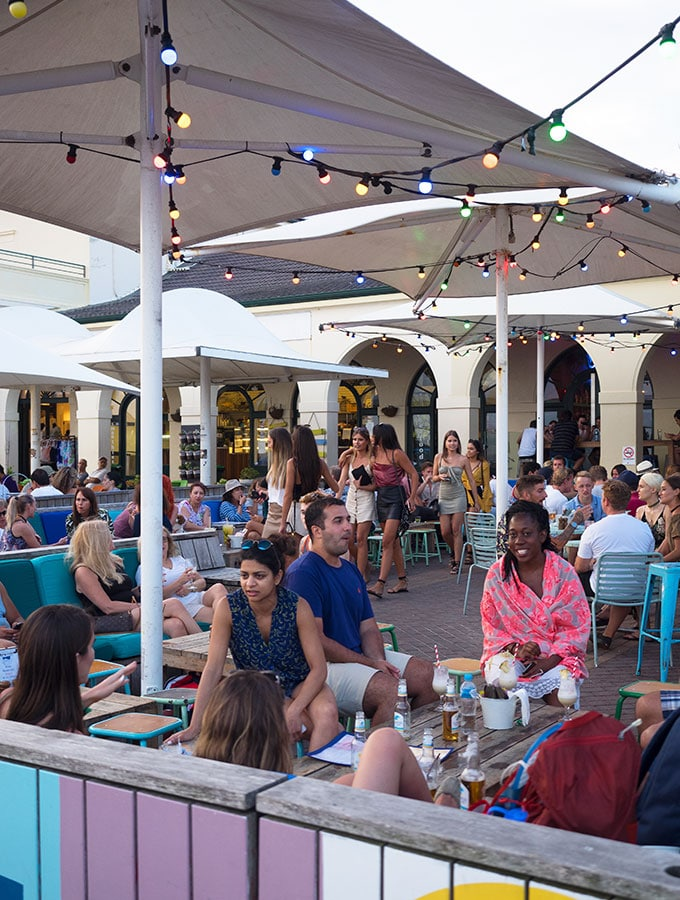 Outdoor Seating at The Bucket List Bondi Beach, Dog friendly dining in Sydney