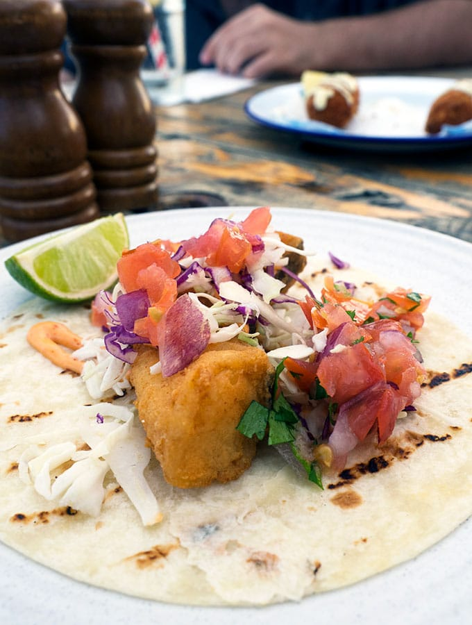Fish Taco at The Bucket List Bondi Beach Sydney