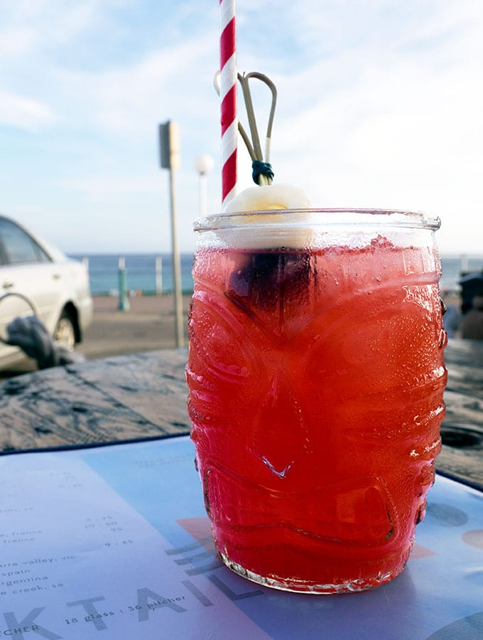 Cocktails at The Bucket List on Bondi Beach Sydney