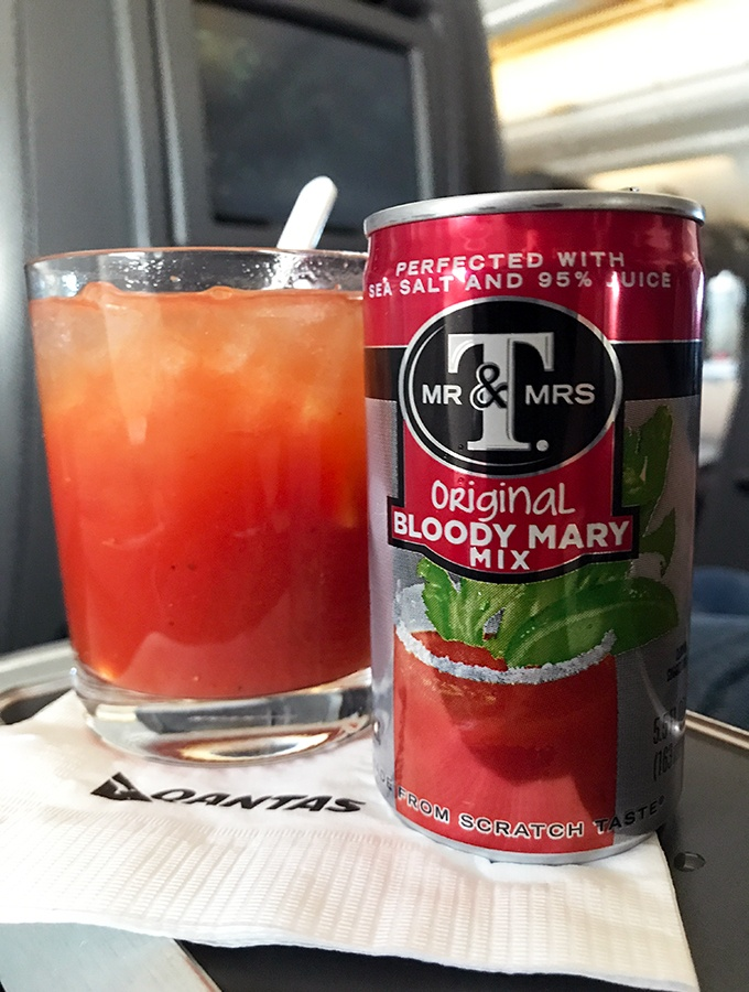 Qantas Business Class Sydney to Singapore QF005 Airbus A300 Bloody Mary Mix
