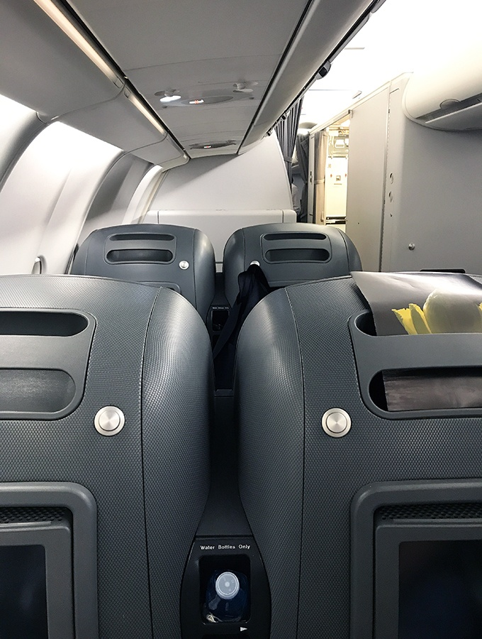 Qantas Business Class Sydney to Singapore QF005 Airbus A300 Pod Seats in cabin