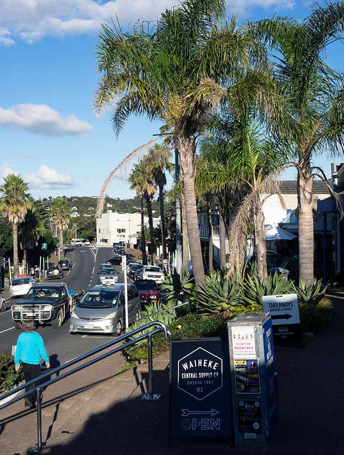 Main shopping area of Waiheke Island