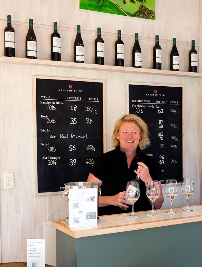 Wine tasting with Heike Kennedy Point Vineyard Waiheke Island