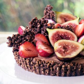 The ultimate chocolate cheesecake with a delicious chocolate crackle base