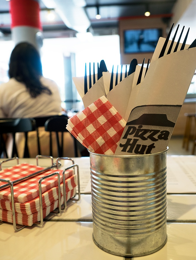 In store dining at Pizza Hut's New Concept Store Waterloo