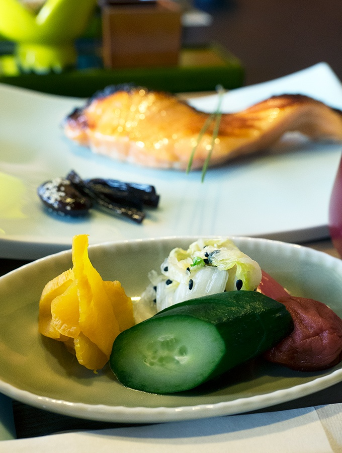 Japanese pickles are part of our Japanese breakfast at Kozantei Ubuya Mt Fuji View Hotel Kawaguchiko Japan