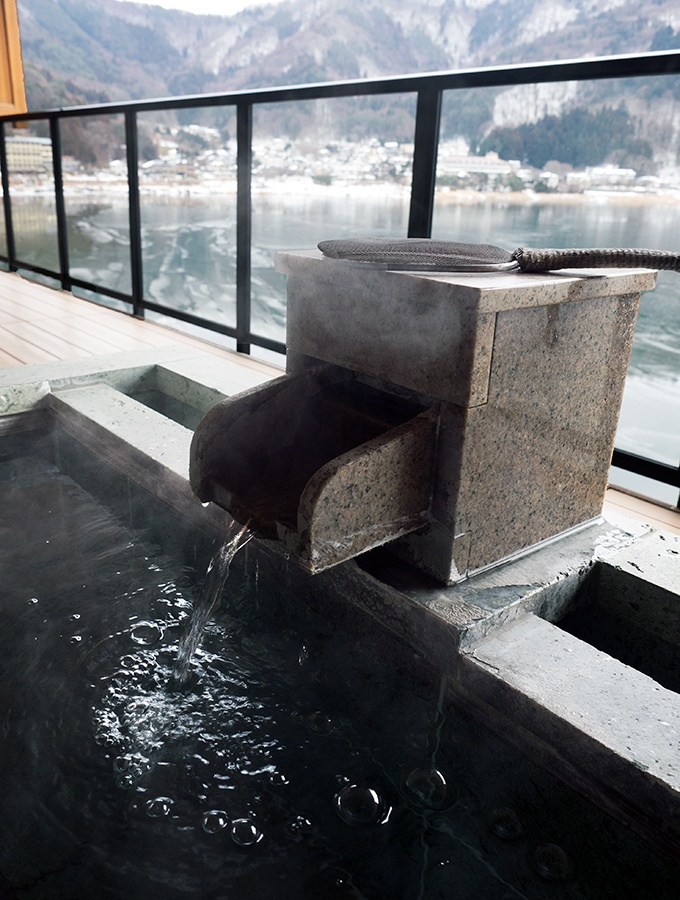 The tranquility of your own private outdoor Japanese bath. Kozantei Ubuya Mt Fuji View Hotel Kawaguchiko Japan
