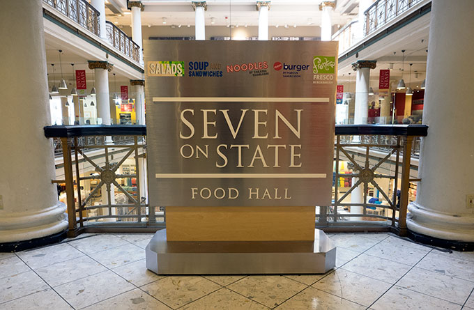 Seven on State Food Hall Chicago