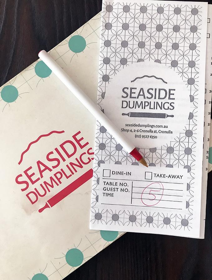Seaside Dumplings Cronulla - menu