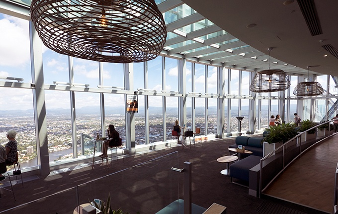 SkyPoint Bistro & Bar - amazing views from the SkyPoint Observation Deck