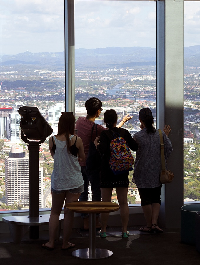 SkyPoint Bistro & Bar - people enjoying the view