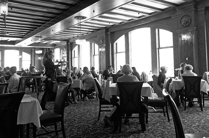 Lunch time at the Walnut Room Chicago