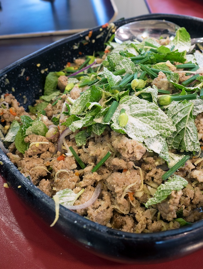 Easy dark larb recipe