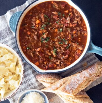 Hearty Duck and Port Ragu Recipe - This is a hearty ragu that will freeze well and is low cost to feed the family.