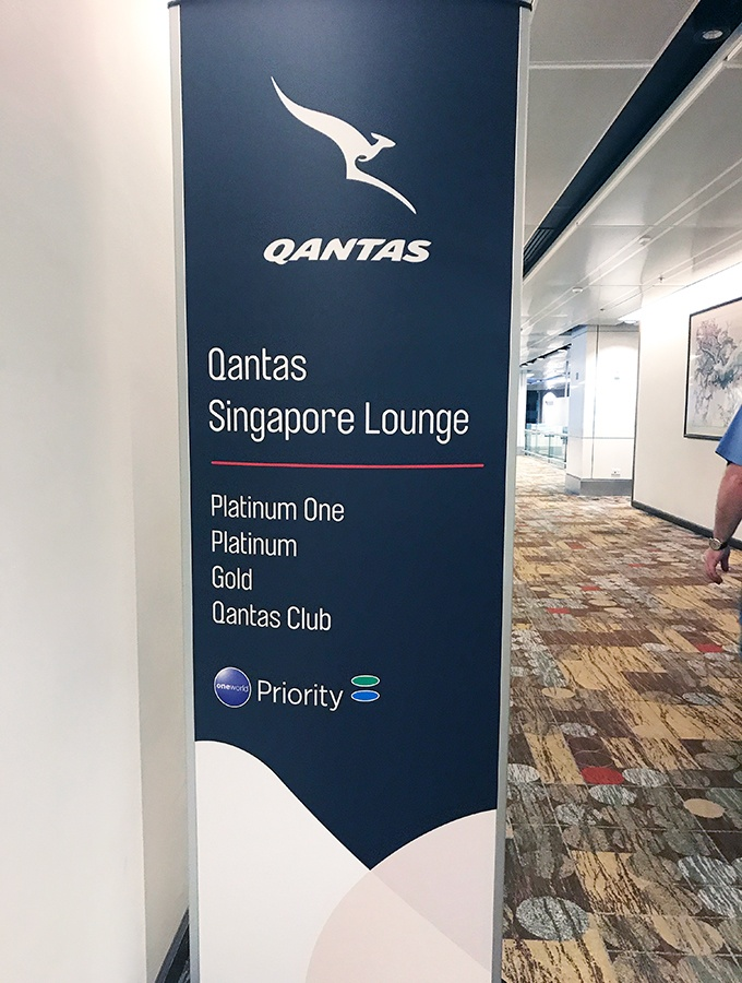 Important to note that the Qantas Singapore Lounge opens at 2.30pm